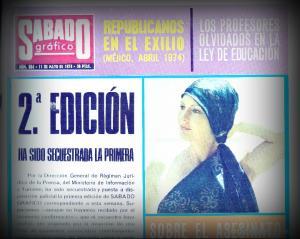 Detalle de una portada de Sábado Gráfico.