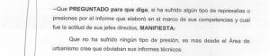 Detalle de la declaración de uno de los testigos reflejada en el nuevo informe policial.