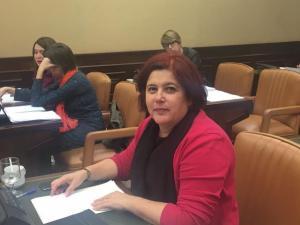 Elvira Ramón en el Congreso.