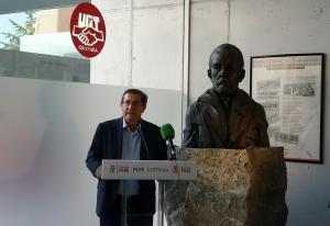Entrena ha hecho públicas sus aspiraciones en la sede de UGT.