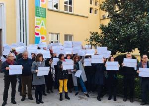 Protesta de los trabajadores de la Escuela Andaluza de Salud Pública.