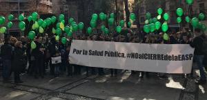 Movilización de los trabajadores de la EASP.