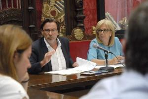 Oliver y De Leyva, en rueda de prensa.