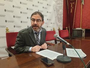 Miguel Ángel Fernández Madrid, en rueda de prensa.