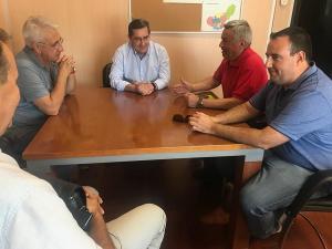 Entrena se ha reunido con Flores y Martín este miércoles.