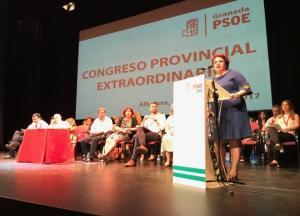 Teresa Jiménez, durante su intervención en el Congreso Extraordinario.