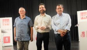 Chema Rueda, Noel López y José Entrena.