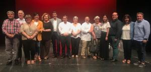 Entrena con el equipo que le acompañará como diputados provinciales del PSOE.