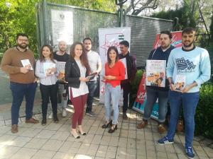 Inicio en Granada de la campaña de Juventudes Socialistas.