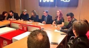 Susana Díaz, en la reunión de la Ejecutiva Provincial del PSOE de Granada.