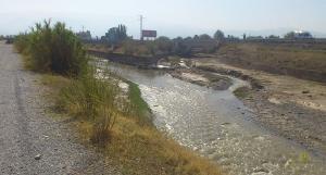 El Genil, cuando recoge las aguas del río Dílar, en la Vega.
