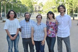 Leticia García Panal con los otros integrantes que la acompañan en la candidatura.