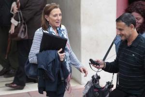 Isabel Nieto, tras una de sus comparecencias en el Juzgado.
