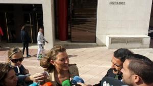 Isabel Nieto en una de sus comparecencias en el juzgado.