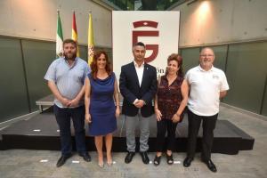 Los representantes de IU y Vamos,Granada Provincial en Diputacion.