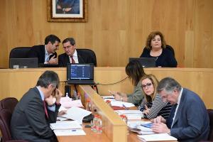 Un momento del pleno de la Diputación celebrado este miércoles.