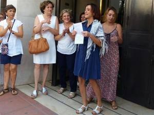 Juana Rivas en una imagen de archivo a la salida de los Juzgados.