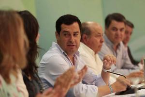 Moreno, en la reunión en Granada del grupo parlamentario del PP-A.
