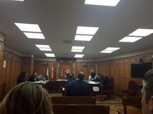 Sesión del juicio celebrada este lunes.
