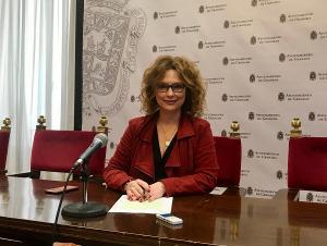 La concejala María del Mar Sánchez, en rueda de prensa.