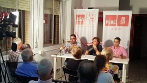 Acto del PSOE de Lanjarón.