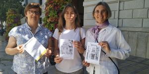Marta Gutiérrez con Leticia García y Lola Ruiz.