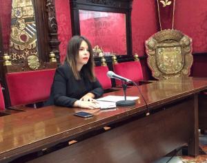 Lorena Rodríguez en rueda de prensa.