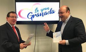 Sebastián Pérez con Luis González.