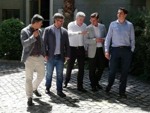 Luis Garicano ha respaldado este jueves al candidato de Cs a la Alcaldía de Granada.