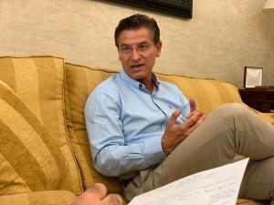 Luis Salvador, durante la entrevista.