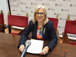 María de Leyva este lunes en rueda de prensa.
