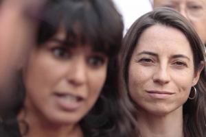 Teresa Rodríguez junto a Marta Gutiérrez.