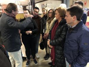 Concejales del PP visitan Merca80.