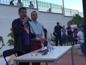 Juan Carlos Monedero, este sábado en Peligros.