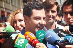 Juan Manuel Moreno, en Málaga.