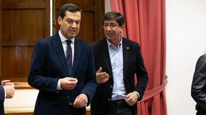 Moreno y Marín, en una imagen de archivo de las negociaciones del acuerdo.