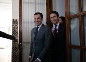 Juan Manuel Moreno y Teodoro García Egea.