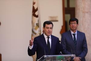 Moreno y Marín, tras el primer Consejo de Gobierno.