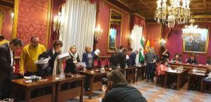 Los concejales de PSOE y Podemos-IU abandonan el pleno.