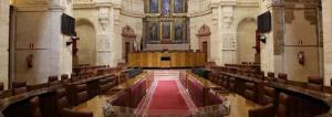 Salón de Plenos del Parlamento de Andalucía.