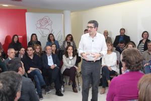 Patxi López, en uno de los actos de su candidatura.