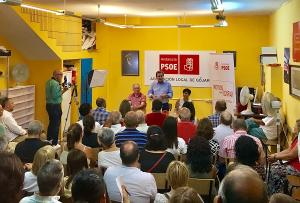 Entrena en un acto con militantes en Gójar.