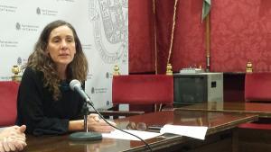 Pilar Rivas, en rueda de prensa.