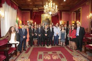 La nueva corporación municipal de Granada.