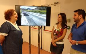 El PP muestra una imagen con el estado de la carretera.