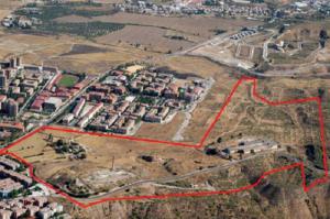 Delimitación sobre el terreno del Plan Parcial de La Azulejera.