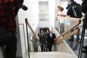 El presidente de la Junta, este viernes, en la inaguración del Centro de Salud de Bola de Oro.