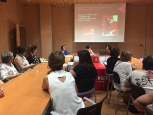 Imagen del taller feminista del PSOE de la capital.