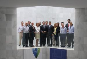 Paco Cuenca en una reunión con empresarios en la sede de la CGE.