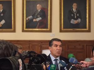 Lorenzo del Río atiende este jueves a los medios de comunicación.